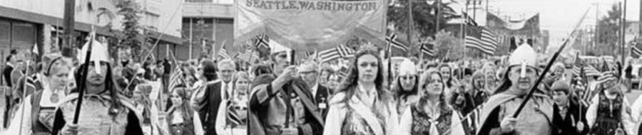 Marchers at a historic 17th of May Parade in Seattle.