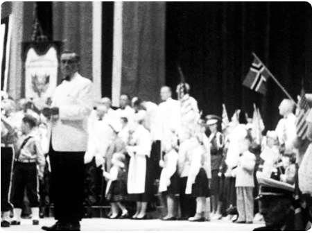 A 17th of May at the Armory where the early parade started.